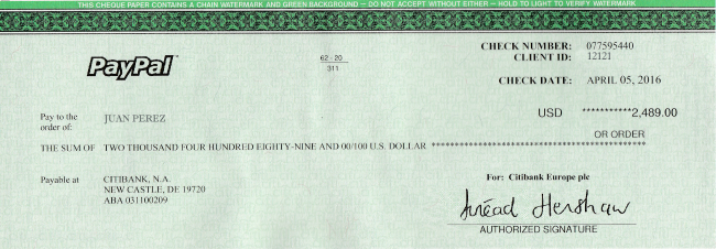 how to get a cheque from paypal