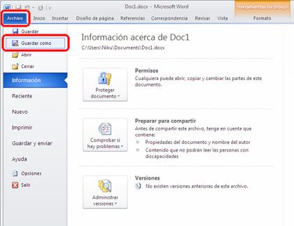 como guardar documento pdf en word